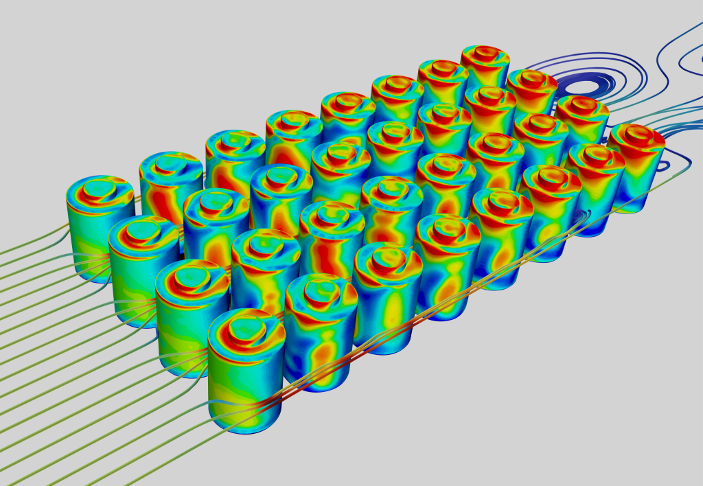 CFD heat flux thermal simulation