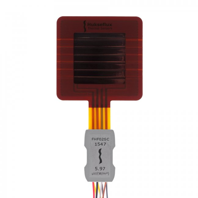 FHF02SC Self-calibrating foil heat flux sensor with thermal spreaders and heater