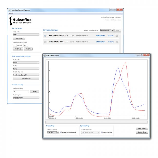 Hukseflux Sensor Manager software