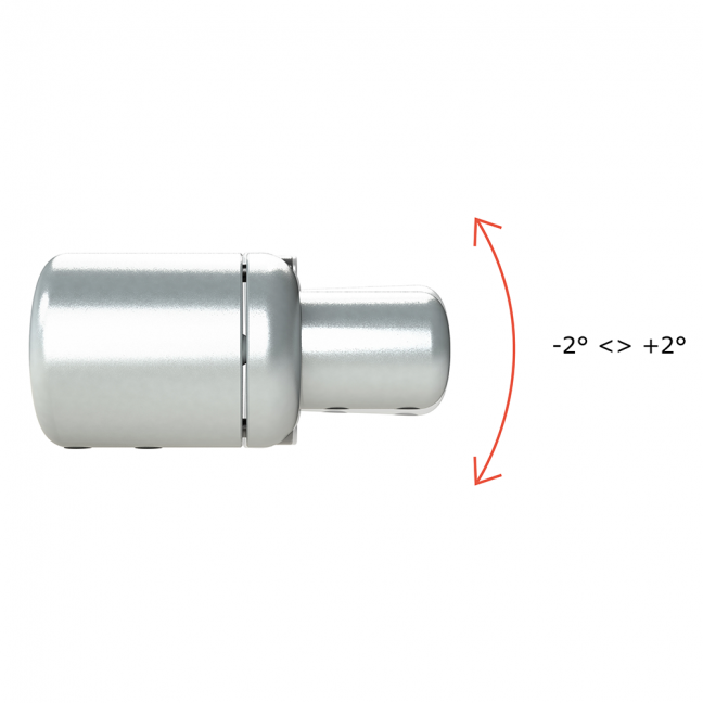 With ALF01, albedometers can be rotated around the tube axis for 360 ° as well as tilted over ± 2 degrees